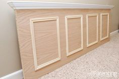How to make a plain door into a headboard when you cannot find a cool looking vintage one.