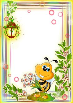 Free photo effects online. Category: Different for children Picture Borders, Bee Pictures, Boarder Designs, Boarders And Frames, Photo Frame Design, School Frame, Background Design Vector, Birthday Frames, Borders For Paper