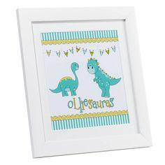 I love this dinosaur print with kids dino name!