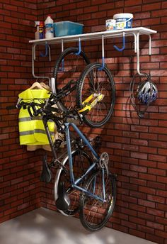You might think that it is expensive to organize your garage. You might also think that the organizing supplies are also expensive to buy. If what you are thinking is true, de-cluttering garage can be Shed Storage, Garage Storage, Storage Ideas, Crochet Velo, Garage Velo, Bike Hanger For Garage, Garage Organization Tips, Organizing Tips, Bicycle Storage