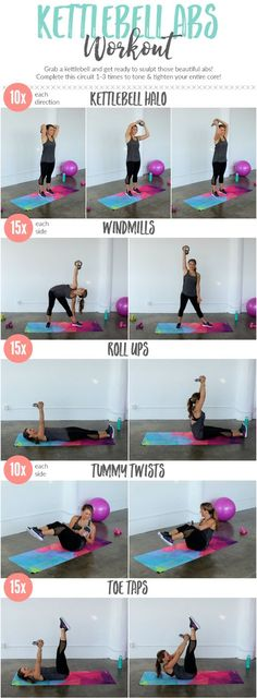 Tighten an tone your entire core with this kettlebell ab workout