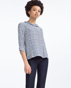 Image 2 of ROLL NECK BLOUSE from Zara