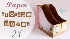 Tuto: raccoglitore per Carte scrap - ENG SUBS Paper Storage Boxes DIY