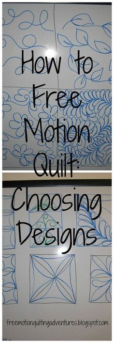 Could you make like a solid color basic quilt or blanket and a contrasting thread? Amy's Free Motion Quilting Adventures: How to Free Motion Quilt: The Designs Patchwork Quilting, Quilt Stitching, Longarm Quilting, Free Motion Quilting, Hand Quilting, Quilts, Quilting Tips, Top Stitching, Quilting Board