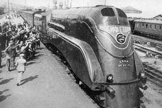 Паровоз ИС20-16, максимальная скорость 155 км/ч. 1937 г