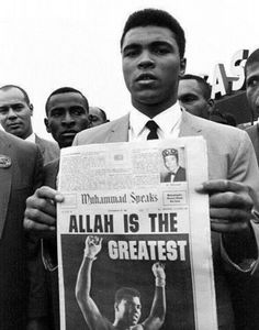 -Allah is the Greatest- Today (4/6/2016) the boxing legend Muhammad Ali, the 'greatest' boxer, leaves this world at the age of 74; he will truely be missed. May his soul rest in piece.