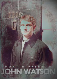 Martin Freeman John Watson Sherlock. I like Watson, even when he's being a Hobbit.