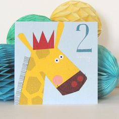 Two Year Old Card Pack by Kali Stileman Publishing, the perfect gift for Explore more unique gifts in our curated marketplace. Boy Cards, Kids Cards, Baby Blue Background, Texture Board, Giraffe, Elephant, Old Birthday Cards, Two Year Olds, Little People