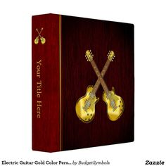 Electric Guitar Gold Color Personalized