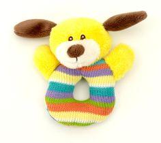 Infant's Plush Rattle - Puppy