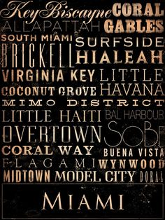 @Barbara Acosta Hiatt @ Chase the Star  Oye!  Where's Model City?  And MIMO District?  I love that Overtown is there.  hahahahah