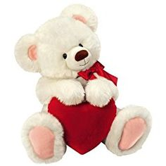 "Happy Valentine's Day 12"" Smitten Teddy Bear Plush Toy With Red Heart"