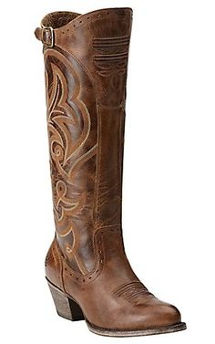 Ariat New West Women's Sandstorm Brown Wanderlust Tall Traditional Toe Western Fashion Boots   Cavender's