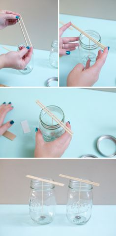 DIY | poured mason jar candle » Something Turquoise {daily bridal inspiration}