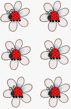 Édes Ladybug: Címkék nyomtatása Candy Bar ingyen.