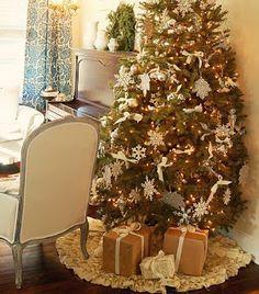 <h1>Cubre pie o falda para el arbol de Navidad (sin coser)</h1> : VCTRY's BLOG