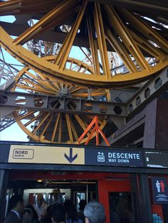 The gears that run the elevator to the top of the Eiffel Tower