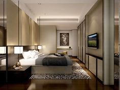 service apartment interior design bedroom_unit 04