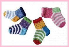 Baby Knitting Patterns These colorful baby socks are just right for little baby feet. Knitted from cotton . Crochet Pullover Pattern, Crochet Socks, Crochet Baby Booties, Knitting Socks, Knit Socks, Knitted Baby Socks, Free Knitting, Crochet Horse, Knitted Slippers