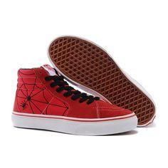 0455ff31dcb3 Vans Sk8-Hi Shoes MensWomens Classic Canvas Sneakers Red Spiderman   vans4u4091  -  39.99