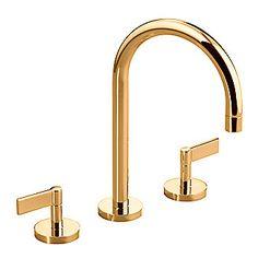 Kallista: One(TM) Basin Faucet Set, Gooseneck Spout, Lever Handles: P24400-LV
