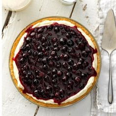 This huckleberry pie has a cookielike press-in crust, a fluffy cream filling and a layer of luscious huckleberries on top. I think it really shows off the lovely dark glossy berries. Huckleberry Cheesecake, Huckleberry Recipes, Huckleberry Pie, Pie Recipes, Dessert Recipes, Cooking Recipes, Recipies, Dessert Food, Sweet Recipes