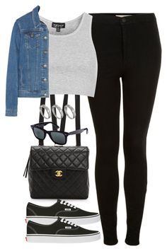 """""""Untitled #2061"""" by hiitsbre ❤ liked on Polyvore featuring WGACA, Topshop, Theory, Vans, Ray-Ban and ASOS"""