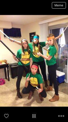 Ninja Turtle Halloween Teen Costumes Group