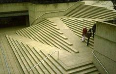 Interesting engineering design to combine stairs with a wheelchair access ramp.