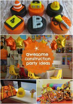 Construction Birthday Party Ideas for Boys www.spaceshipsandlaserbeams.com