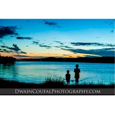 The boys enjoying the sunset at Inks Lake.