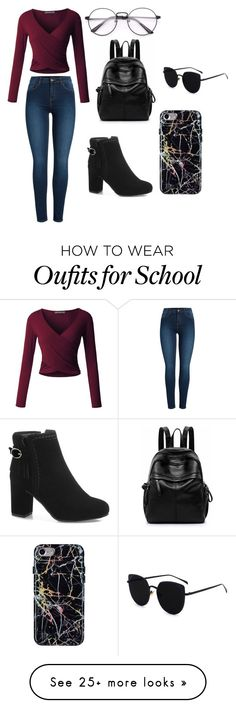 """bad kinda school girl"" by macyweasley on Polyvore featuring LE3NO and Pieces"
