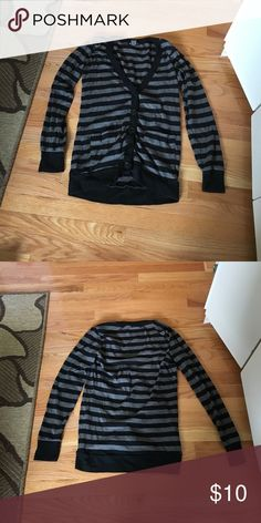 Black and grey sweater Black and grey striped sweater. Worn a few times. In good condition. Tops Camisoles