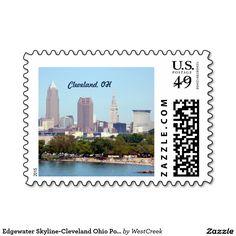 Edgewater Skyline-Cleveland Ohio Postage Stamp