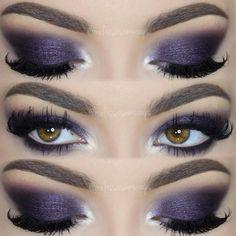 """Hello Loves!  Purple Party Makeup  New TUTORIAL in my YouTube Channel  Link in my Bio  Eyeshadows by ❤ @motivescosmetics www.motivescosmetics.com or…"""