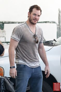 Chris Pratt Gives Tour of Star-Lord's Ship Like on 'MTV Cribs': Photo Chris Pratt is looking oh so sexy while stopping off at a local donation center on Wednesday afternoon (August in Los Angeles. Chris Pratt, Christopher Pratt, Andy Dwyer, Mtv Cribs, Wet T Shirt, Star Lord, Guardians Of The Galaxy, Good Looking Men, Chris Hemsworth