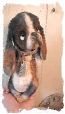 """OLD BASSET HOUND Dog * NEW SkiNi DESIGNS -9"""" vintage antique DOG  * Whendi Bears - textile art soft sculpture dog dolly by me - wendy meagher"""