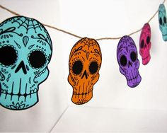 Artelexia: Day of the Dead DIY #46-50: DOD Garland