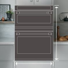 Image of product hole with arrows indicating dimensions Oven Cleaning, Steam Cleaning, French Door Wall Oven, Electric Wall Oven, Single Oven, Perfect Marriage, Oven Racks, Fresh Vegetables, Arrows