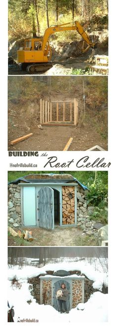 Building the Root Cellar - a project, from start to finish... Alternative Building | Rustic Garden Shed