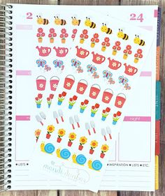 43 Springtime Gardening Stickers – Perfect for Erin Condren, Plum Paper Planner, Inkwell Press, Filofax, Scrapbooking & More