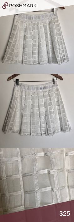 Pleated mini skirt Organza pleated window pane mini skirt Skirts Mini