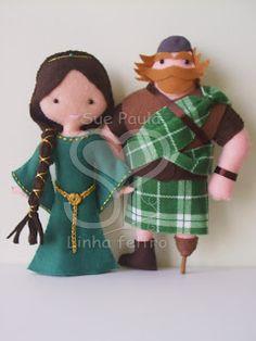 Muñecos de valiente - Brave felt dolls