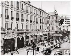 Exterior View of Shepheard& Hotel - Cairo In 1942 Old Egypt, Cairo Egypt, Ancient Egypt, Cthulhu, Shepheard's Hotel, Alexandria Egypt, Visit Egypt, Urban Life, Most Beautiful Cities