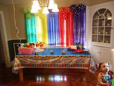I like the decoration over the window. Daniel tiger birthday preparations