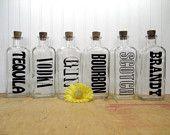 Modern bar glass decanters