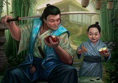 """""""Doji Makoto, Crane Clan Champion, Alternate Art,"""" by Conceptopolis"""
