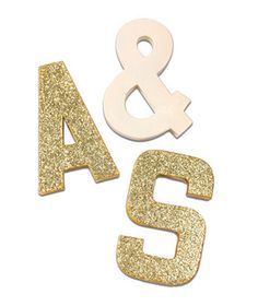 Glitter Letters from @Etsy [Exclusive discount for Real Simple readers through 11/30]