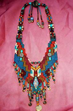 ~ weaving with handmade bead ~ by AowDusdee, via Flickr