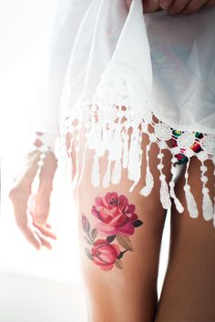 Roses temporary tattoo by Sasha Unisex. https://www.tattooyou.com/product/flower-collection/